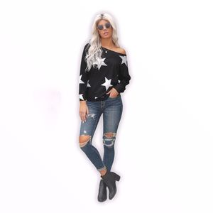 💋Asymmetrical Star Gaze Print Sweatshirt